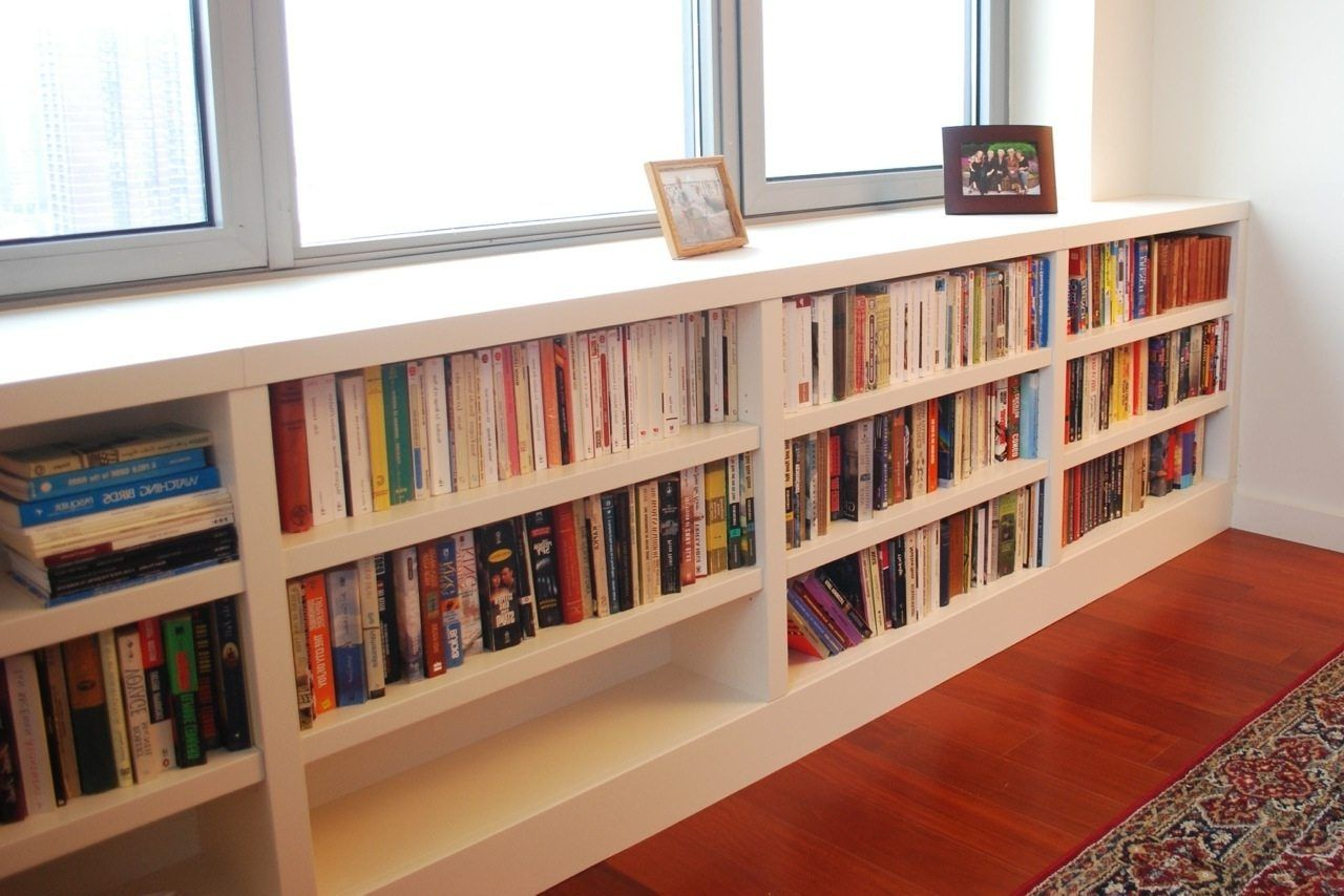 Bookshelf Amazing Long Short Bookcase Horizontal Bookcase Long