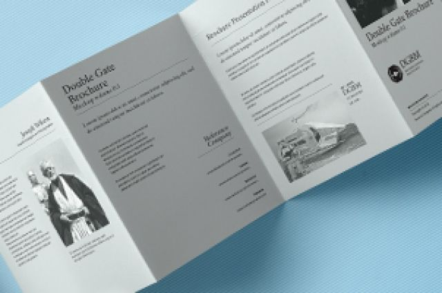 This is an original psd double gate fold style brochure mockup with - gate fold brochure mockup