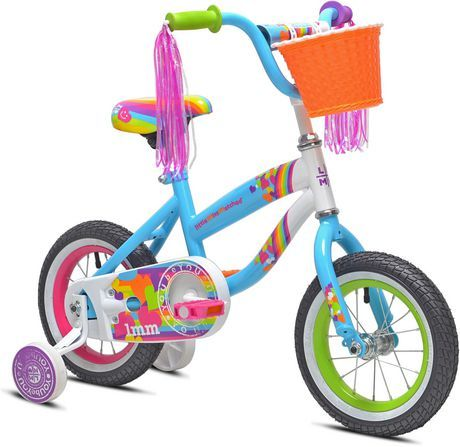 Littlemissmatched Little Miss Matched 12 Girls Steel Bike Multi