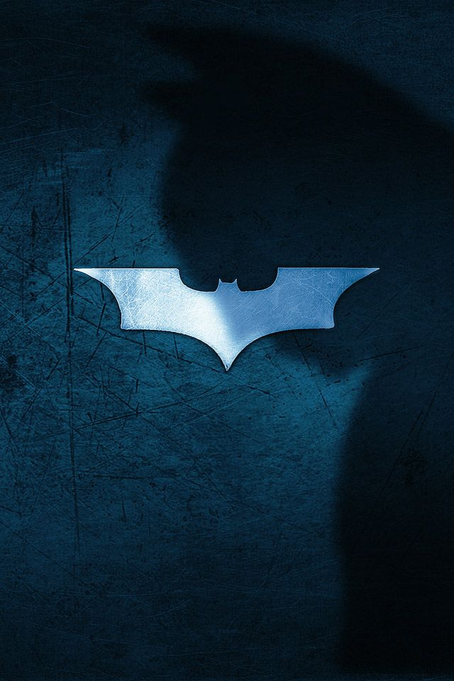 batmanwhadowlogoblue parallax HD iPhone iPad