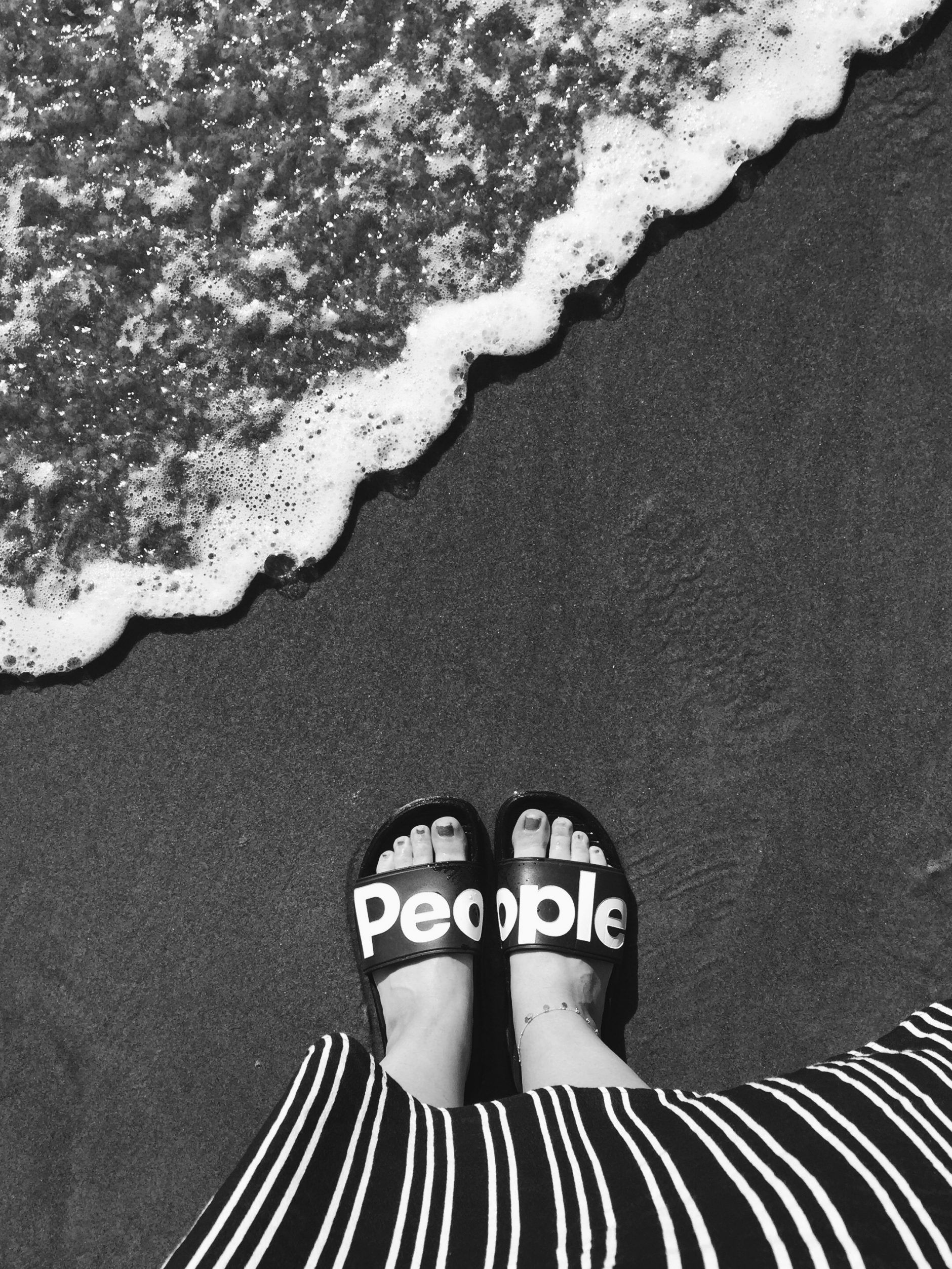 People Footwear — Solo Day At The Beach #TheLennonSlide – Photographer: Laurel Dailey