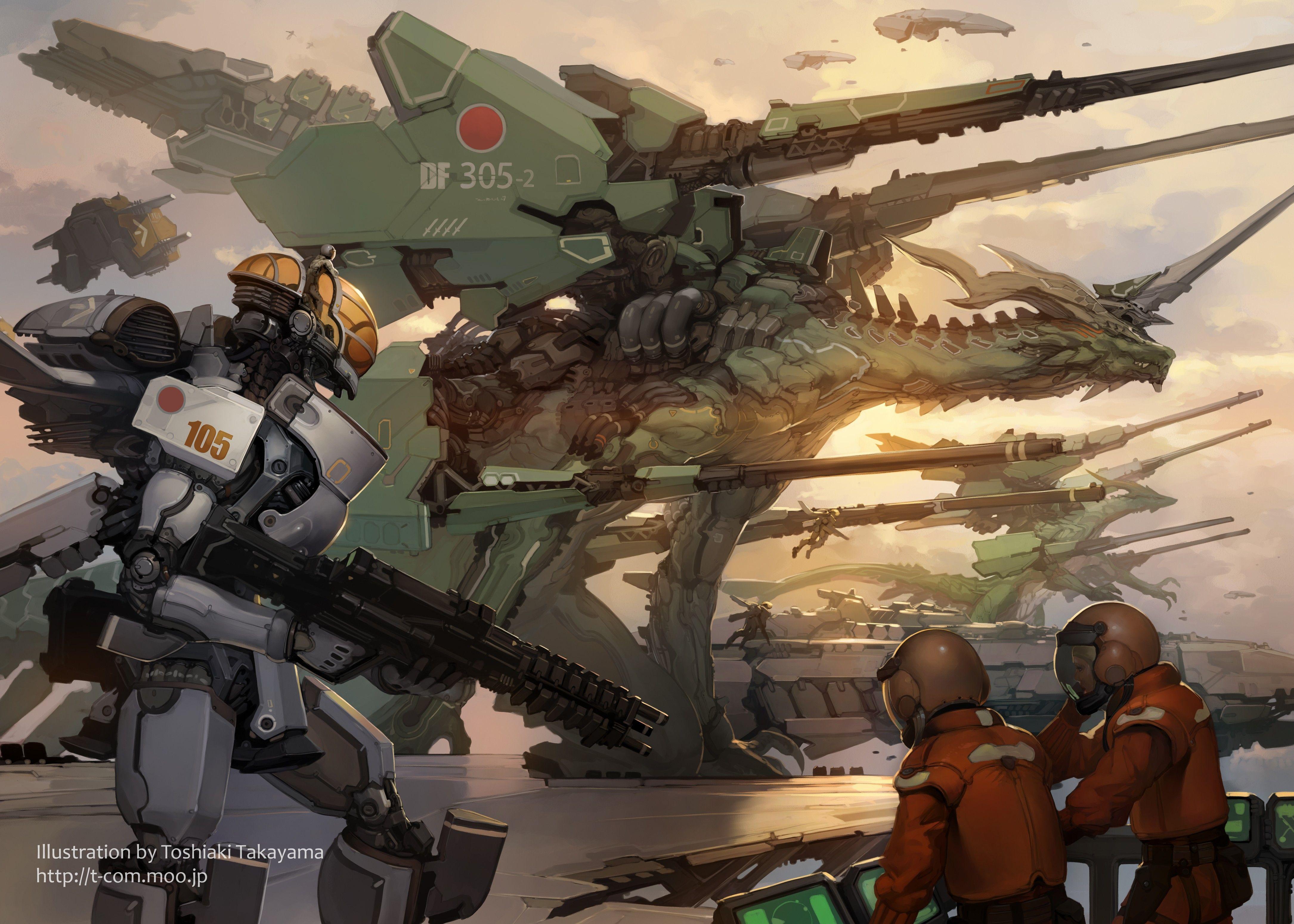 People Futuristic Military Weapon Dragon Mech Wallpaper No 190484 Robot Art Art Sci Fi Wallpaper