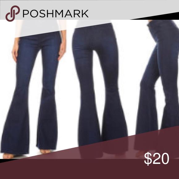 super cute good out x in stock High waist denim dark wash Jeans High waist dark wash flare ...