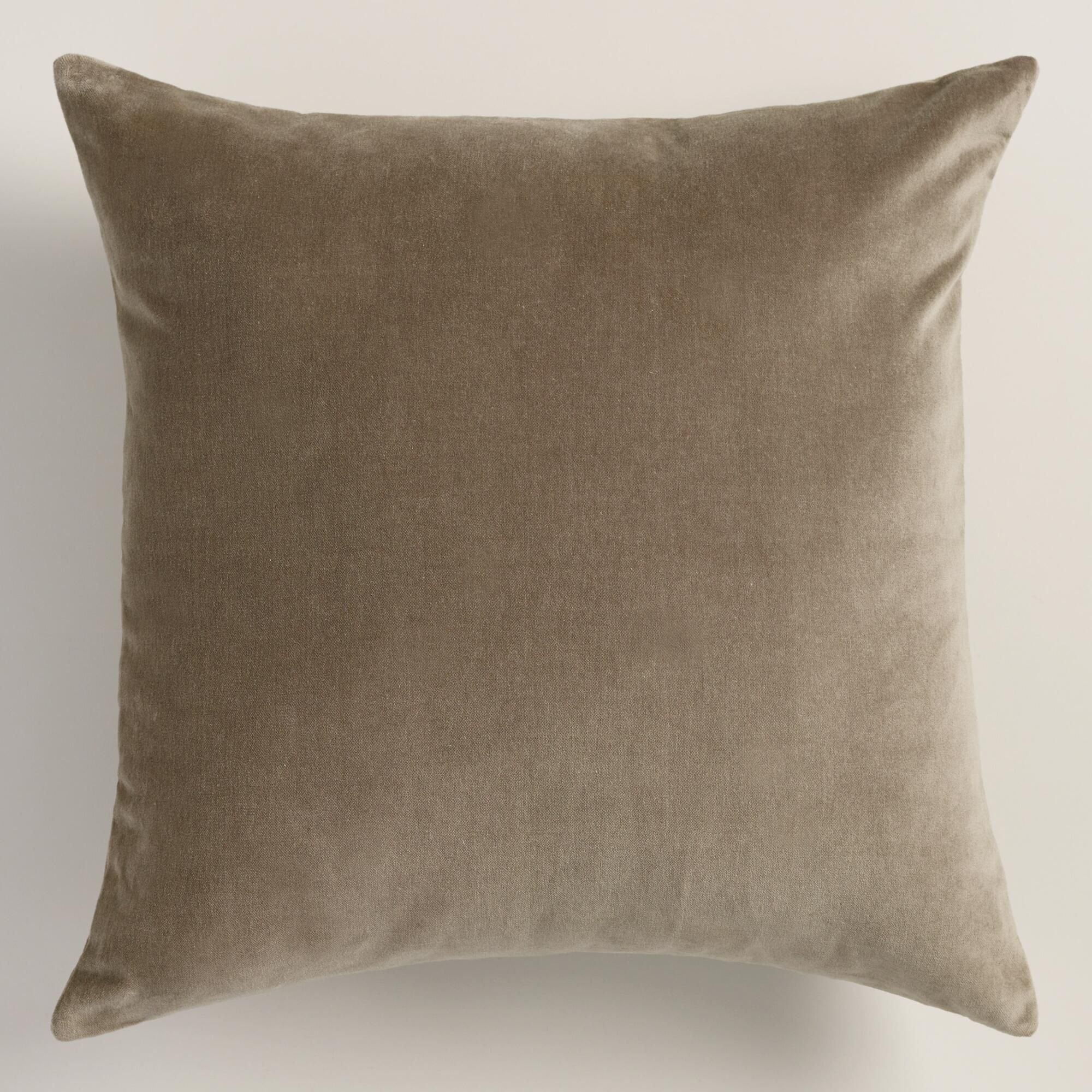 Walnut Taupe Velvet Throw Pillow Throw Pillows Velvet Throw Pillows Velvet Throw