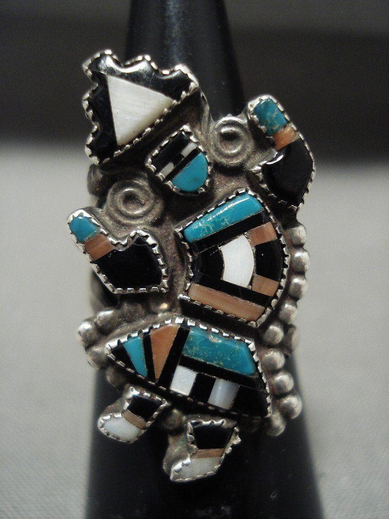 Dancing Kachina Vintage Navajo/ Zuni Turquoise Native
