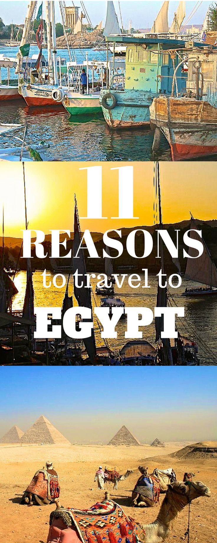 11 Reasons You Should Travel to Egypt Click the pin to read the blog post! http://www.flirtingwiththeglobe.com #Egypt #Africa