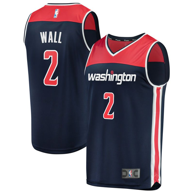 e636682149c John Wall Washington Wizards Fanatics Branded Fast Break Replica Jersey Navy  - Statement Edition