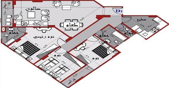 شقة للبيع ,مدينة الشروق 165 م ,قطعة 70 - المجاورة الأولي - المنطقة السادسة - عمارات - مدينة الشروق / دار للتنمية وادارة المشروعات - كلمنا على 16045