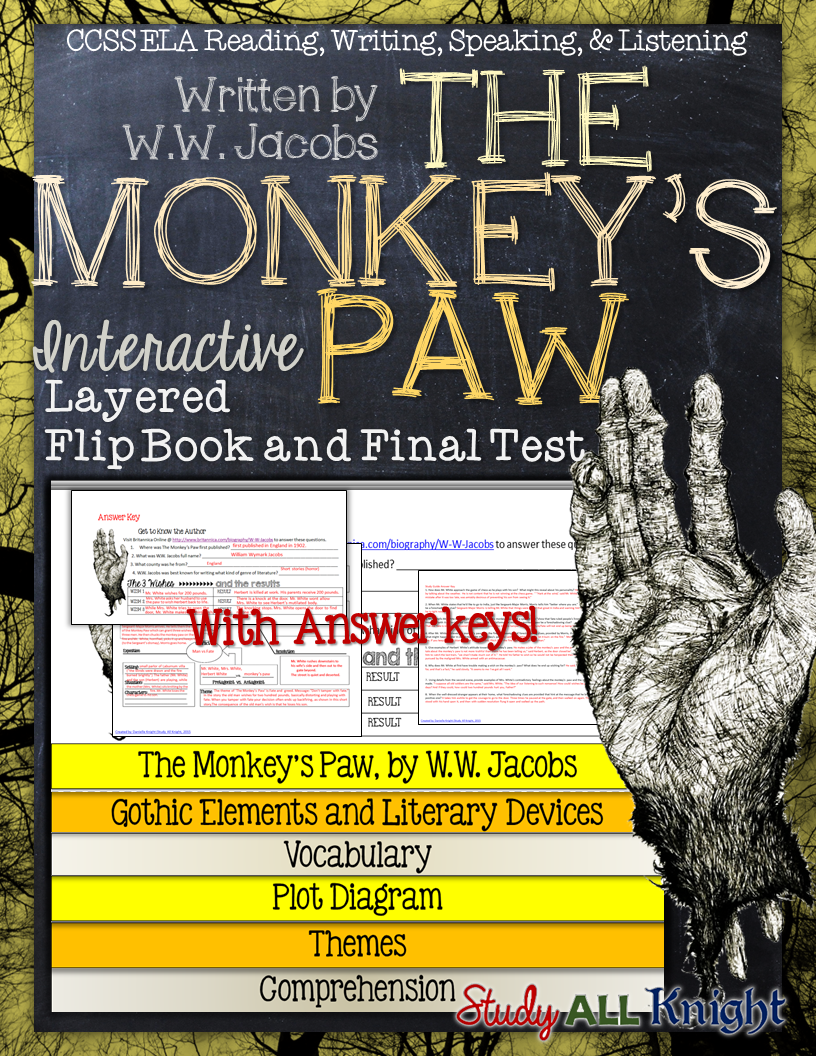 The Monkey's Paw: Interactive Layered Flip Book, Final Test, and Answer Keys ($)