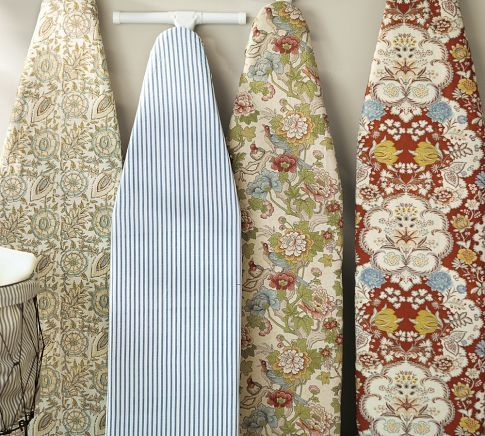 Ironing board cover (Pottery Barn) -- Easy sewing project