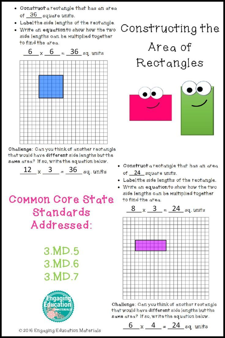 Constructing the Area of Rectangles | Students, Activities and Math