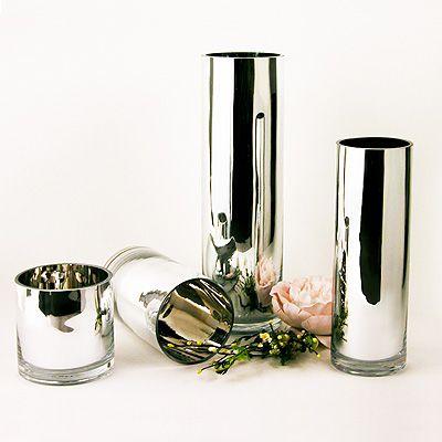 Mirrored Glass Cylinder Vase 8 X 475 Alchemy Foods Pinterest