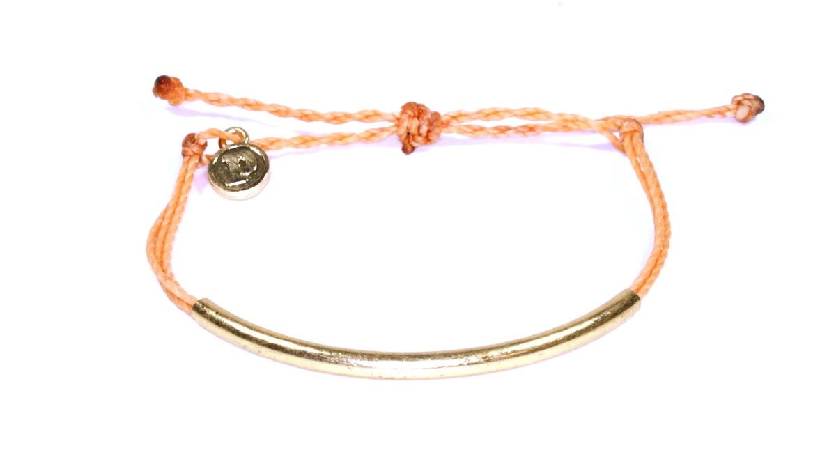 Gold Bar Tan- puravida bracelets