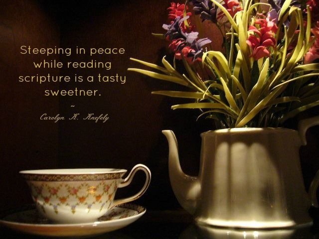 TeaCup Living: Pausing Over a TeaCup