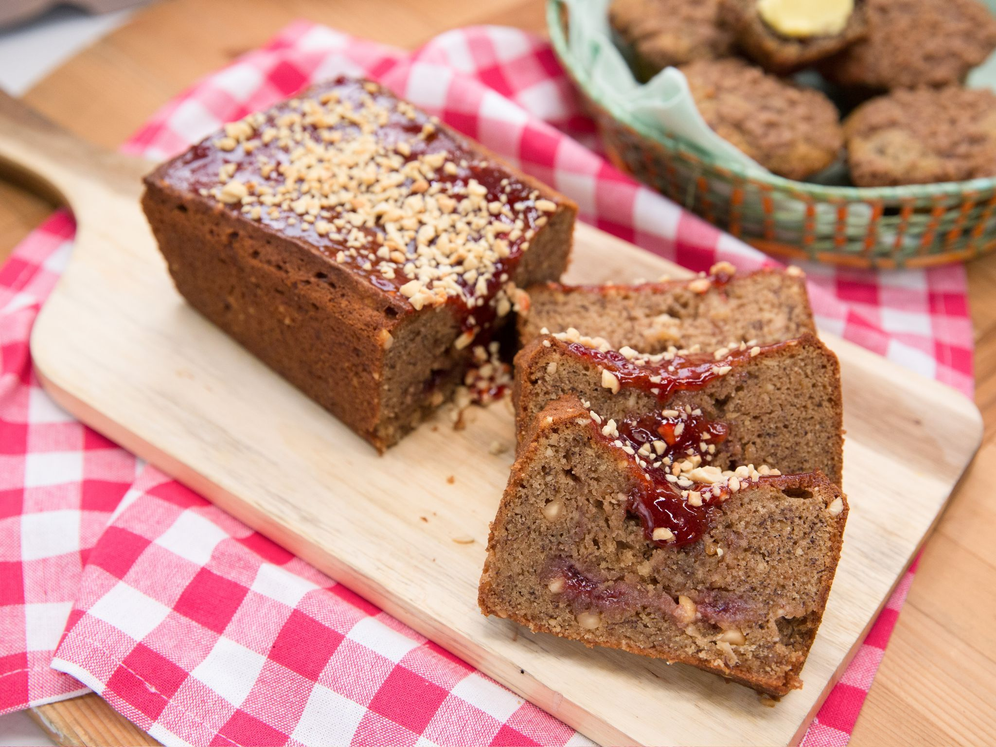 Peanut butter and jelly banana bread recipe banana bread peanut butter and jelly banana bread forumfinder Image collections