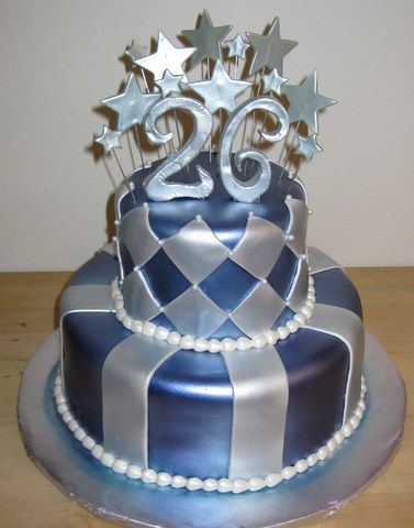Pearl Silver And Blue Fondant By Yay Yay S Specialty Cakes Www