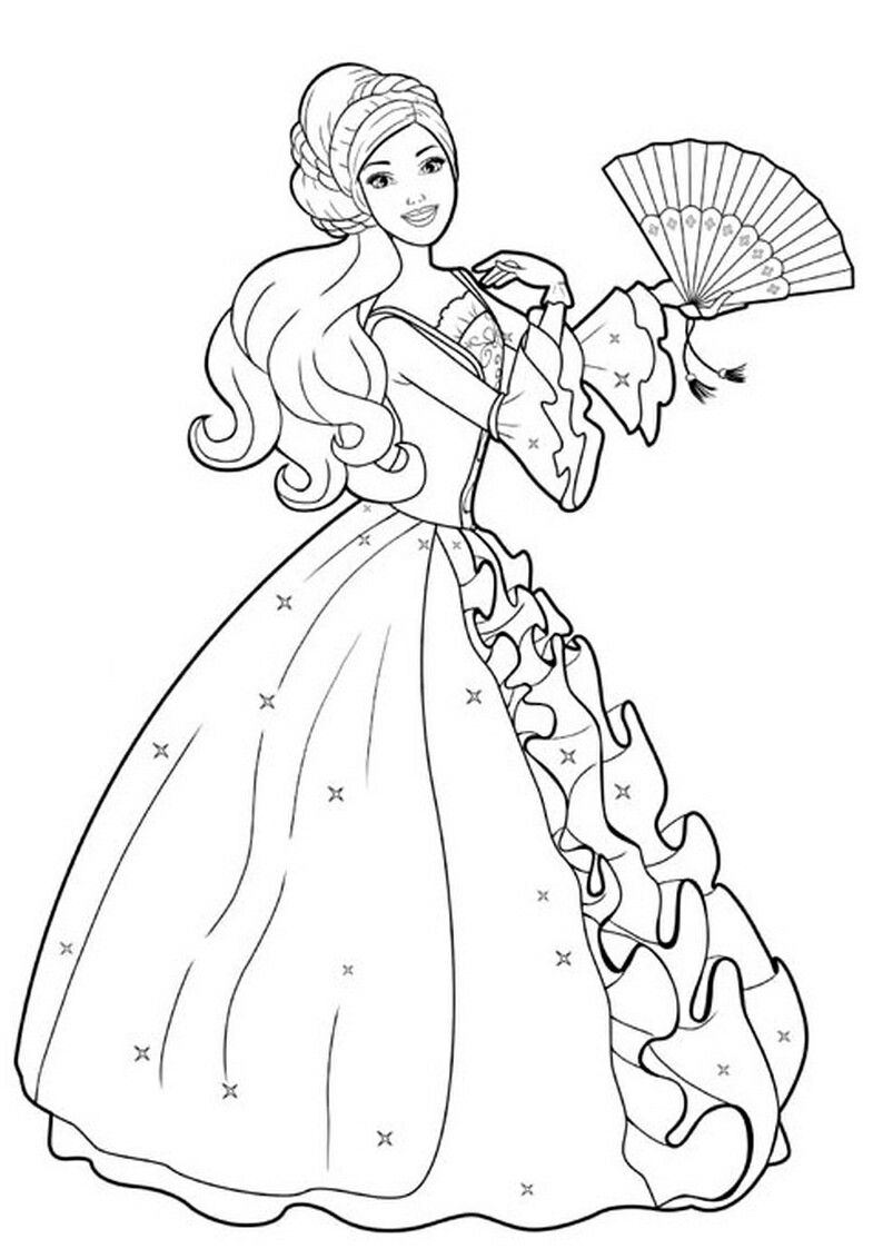 Pin By Renata On Barbie Coloring Barbie Coloring Pages Barbie Drawing Barbie Coloring
