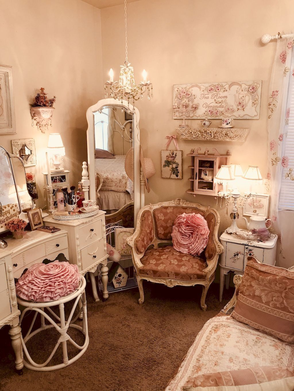 50 Romántico Shabby Chic Vivir Decoración De La Habitación