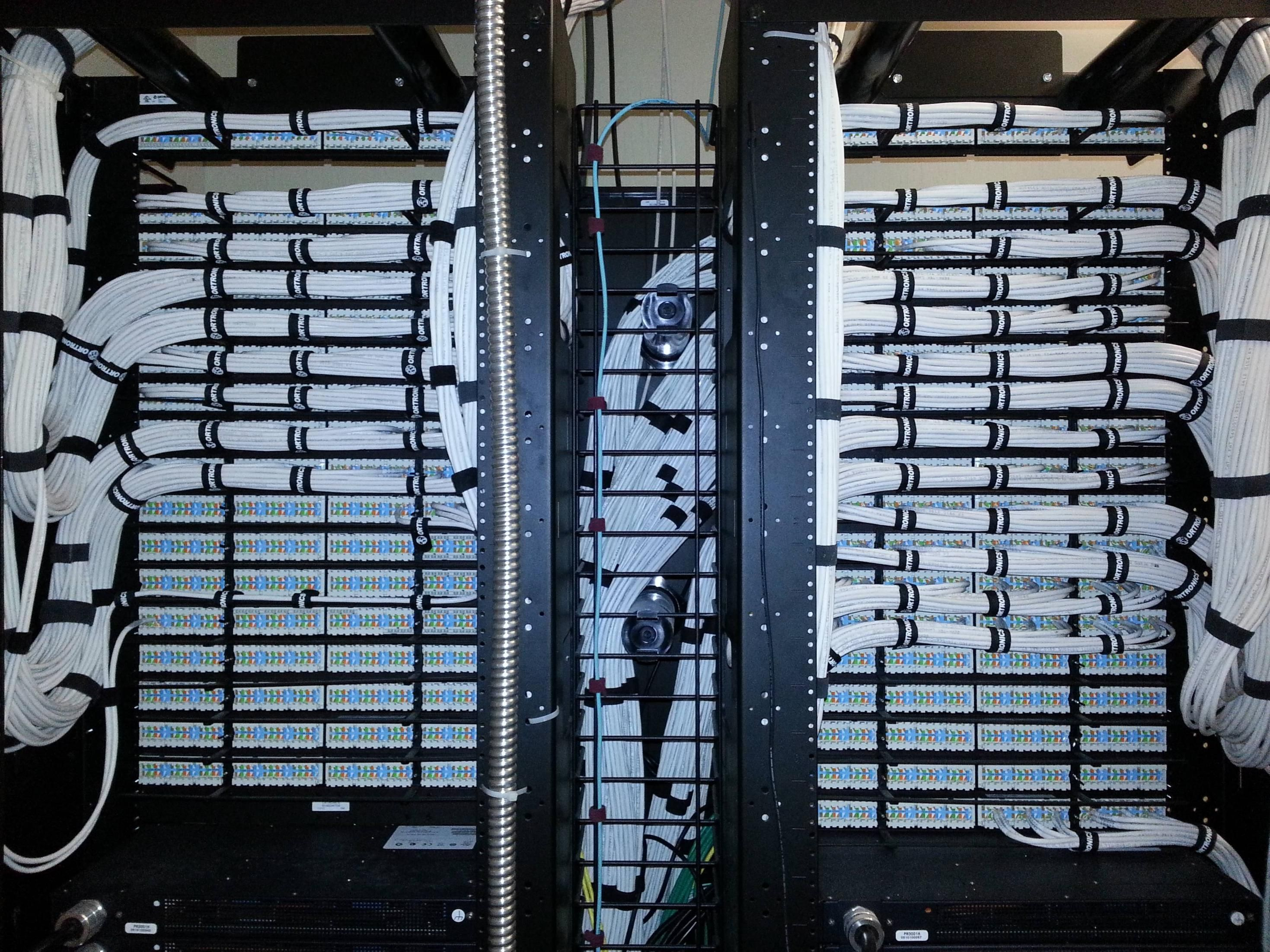 Credit Goes To Some Unknown Artist But I Felt The Need Share His Patch Panel Wiring Im Jealous Just Looking At This Photo Install In Progress Great Work Beautiful Runs Using White Ethernet Cables