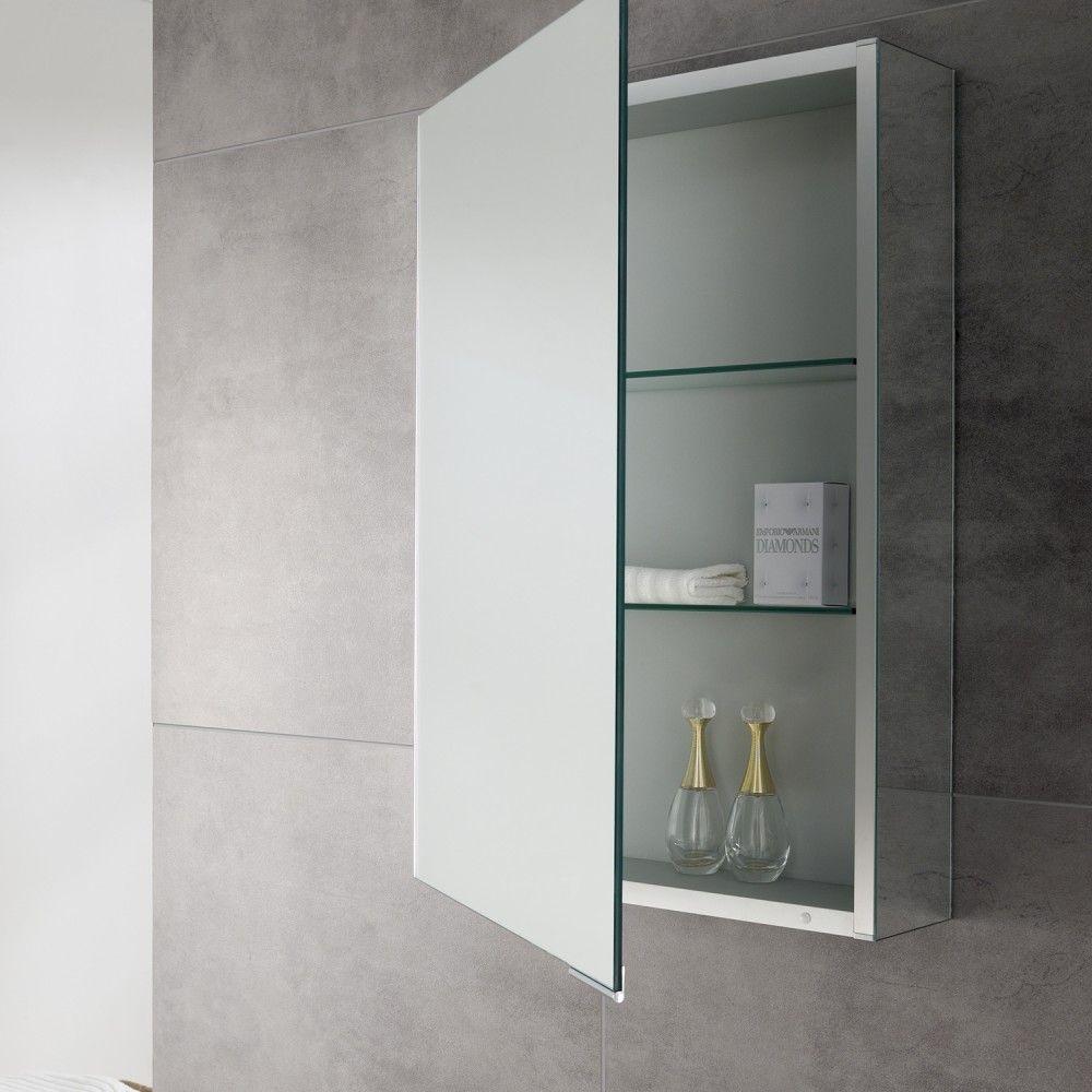 Bathrooom Accessories | Quest 440mm Slimline Single Door Mirror ...