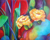 """Oil  by Julie Christopher  """"Desert Color"""""""