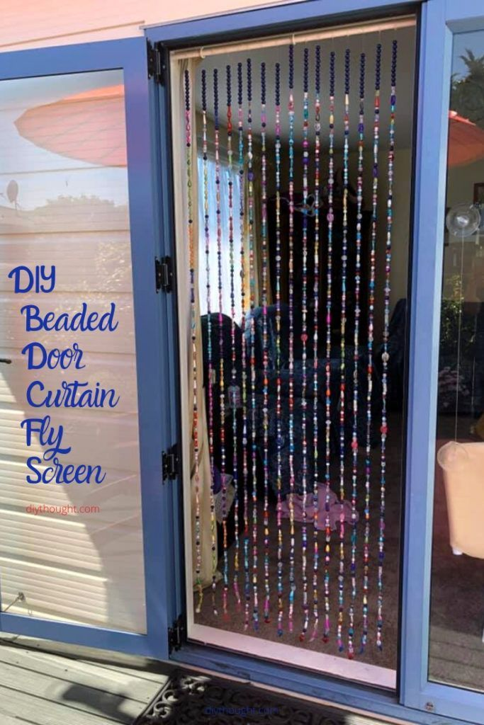 Photo of DIY Beaded Door Curtain Fly Screen. How to make a beaded fly screen.Beaded curta…