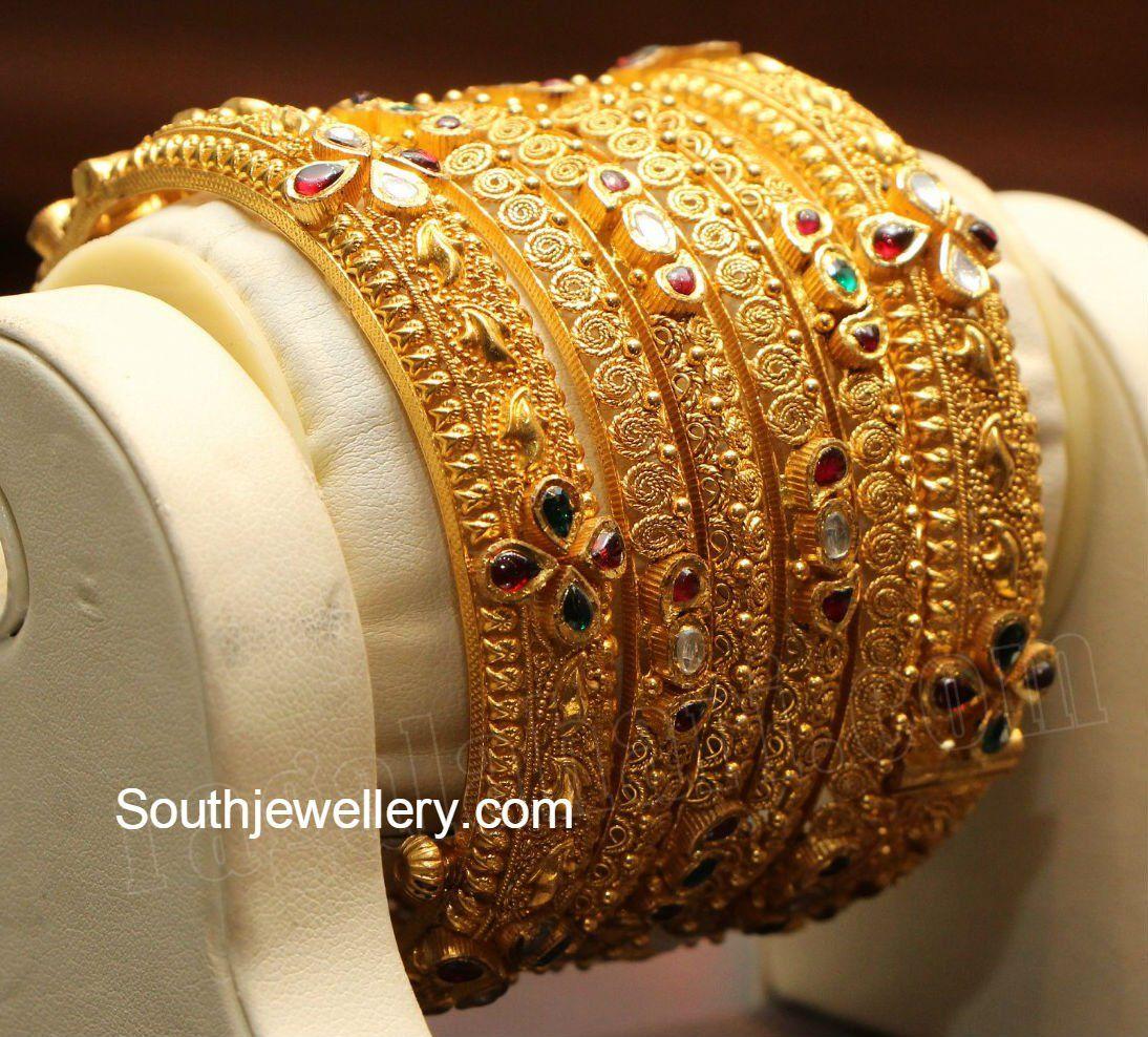 Pin By Shamsheeda Sajeer On Gold Bangles