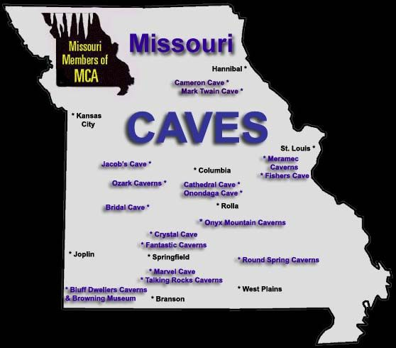 caves in missouri Area Attractions in Missouri by the Missouri