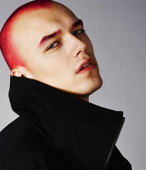 Super Short Red Hair Colored For Men Red Hair Men Men Hair Color Dyed Red Hair