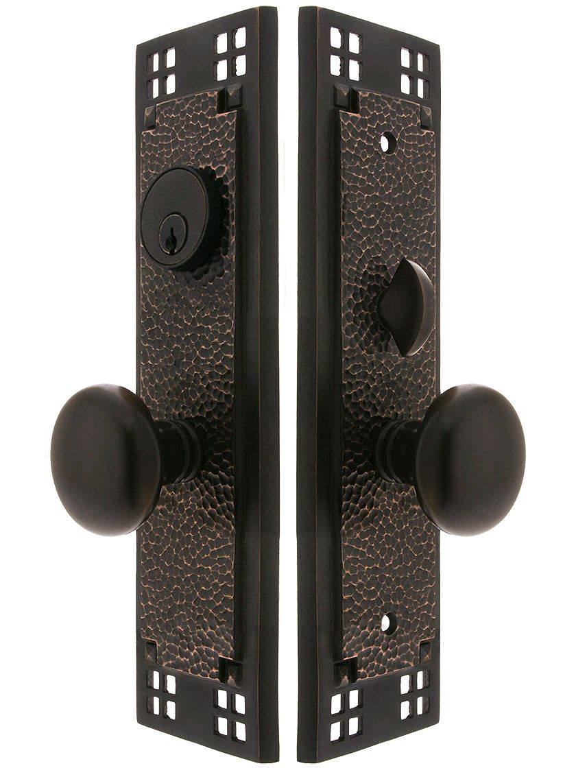 Mission style door hardware - Craftsman Mortise Lock Entry Set With Providence Knobs From Www Houseofantiquehardware Com