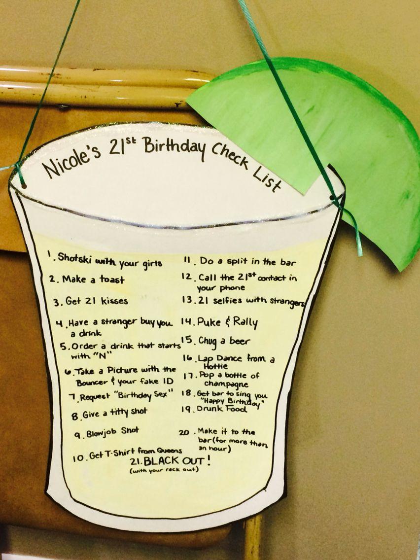 21st birthday check list 21st birthday checklist, 21st