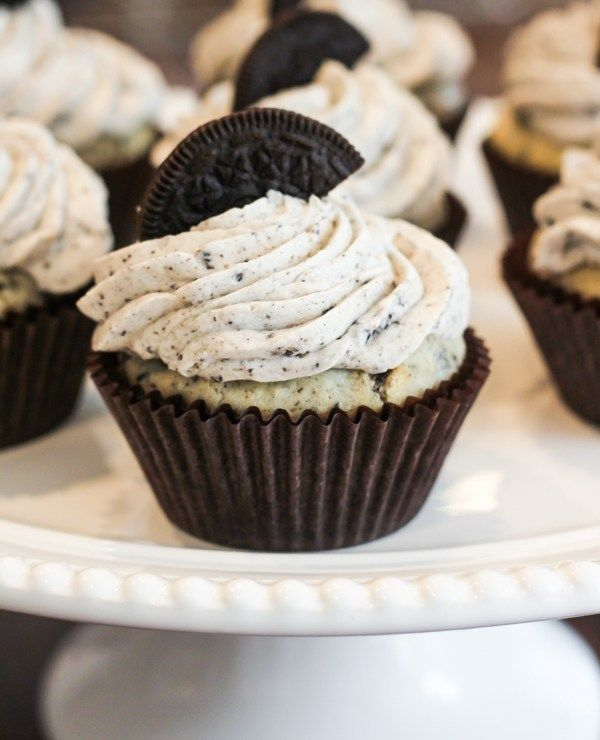 "A ""Double Stuff"" treat. Rich and moist Oreo cupcakes topped with a decadent Oreo frosting."