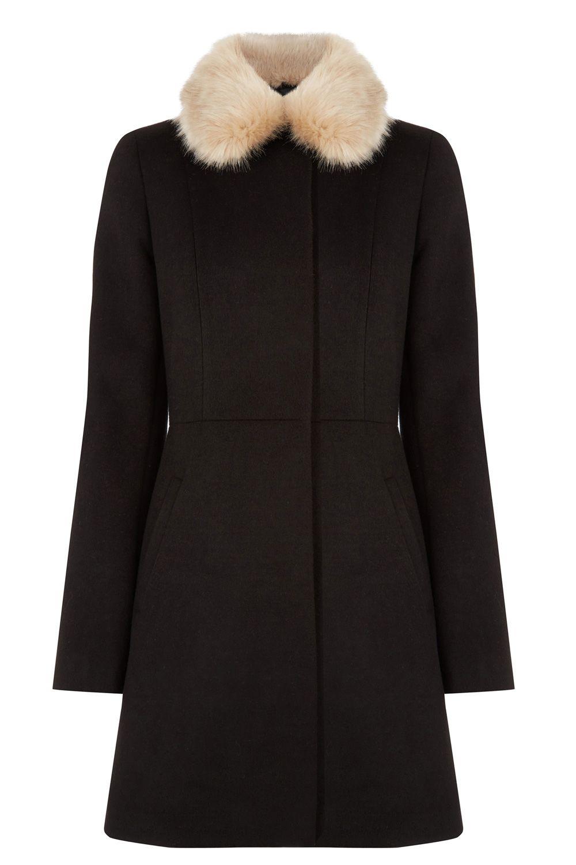 4a76ba6506e5 Detachable Faux Fur Collar Coat | Christmas gift ideas | Fur collar ...