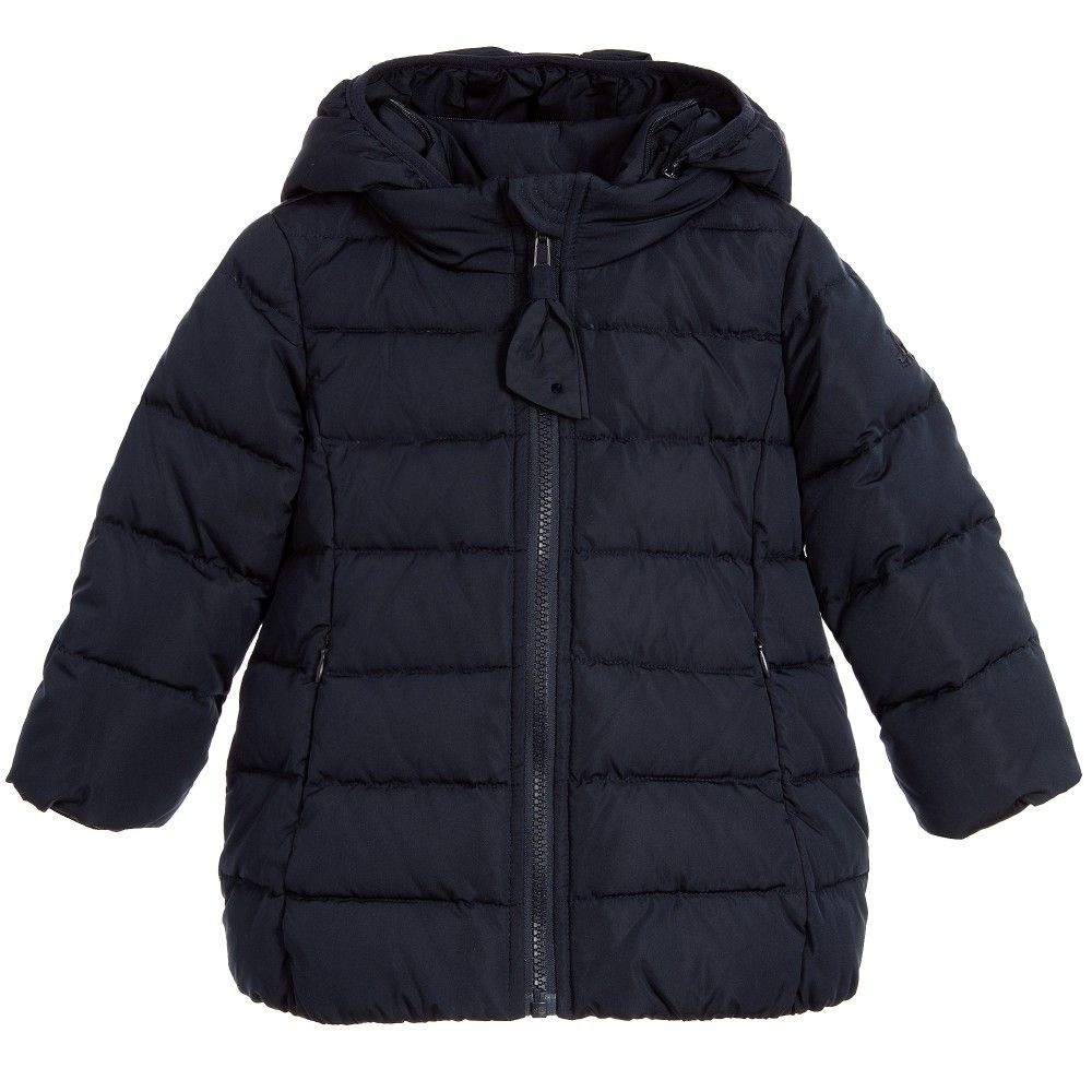 Girls Red Padded & Hooded Puffer Coat | Coats, Logos and Red coats