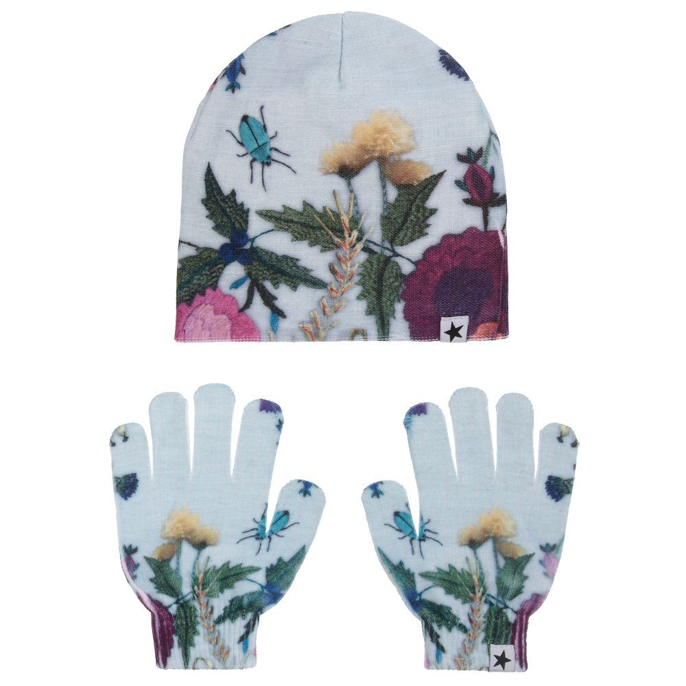 Girls KAYA Hat   Gloves Set for Girl by Molo. Discover more beautiful designer  Hats for kids online 6849e52195f