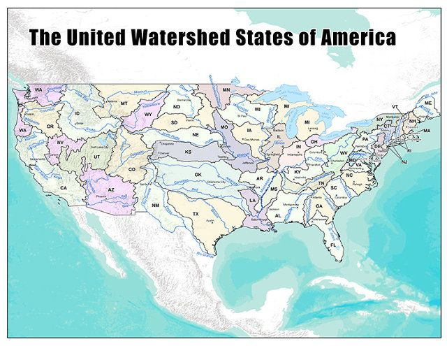 A New Map Of The U.S., Created From Where We Get Our Water ... Us Map Water Source on water area map, water service map, ph of water map, water map of locks, florida water shed map, water rights map, water site map,