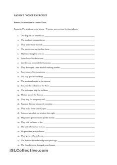 Passive Voice Exercise (Simple Present and Past Passive) | Jenny ...