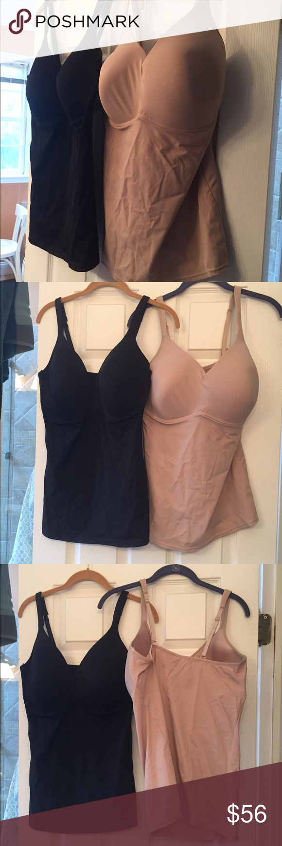 NWT BUNDLE SPECIAL! 2 BRA SHAPERS, size 2X!! NWT BUNDLE SPECIAL!!  2BRA SHAPERS, black and beige, adjustable straps, spandex & nylon, Rhonda Shear, HSN Rhonda Shear Intimates & Sleepwear Shapewear