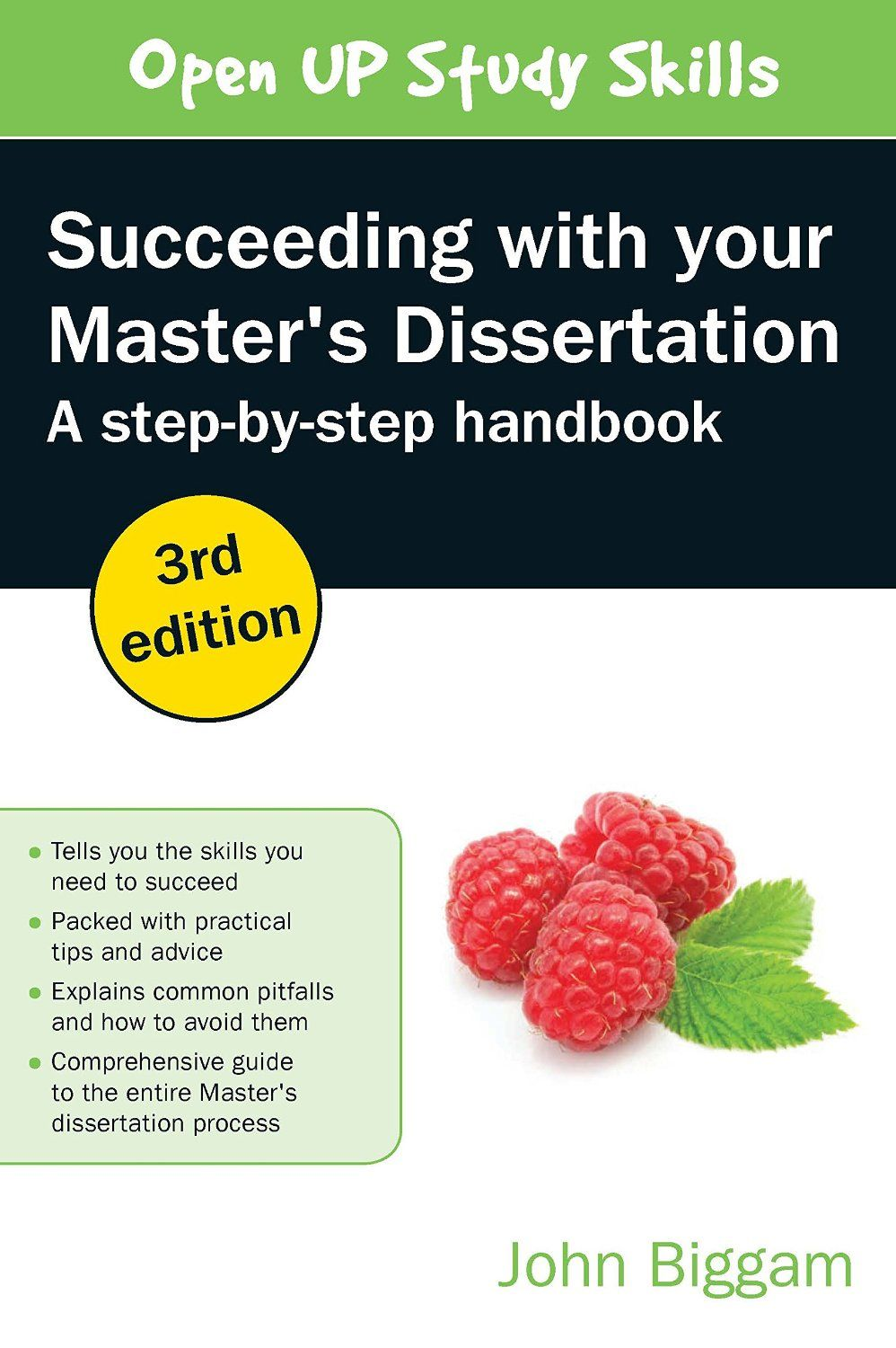 """""""Succeeding with your master's dissertation"""" by John Biggam (3rd edition, 2015). SPS library classmark 2.BIG.1a"""