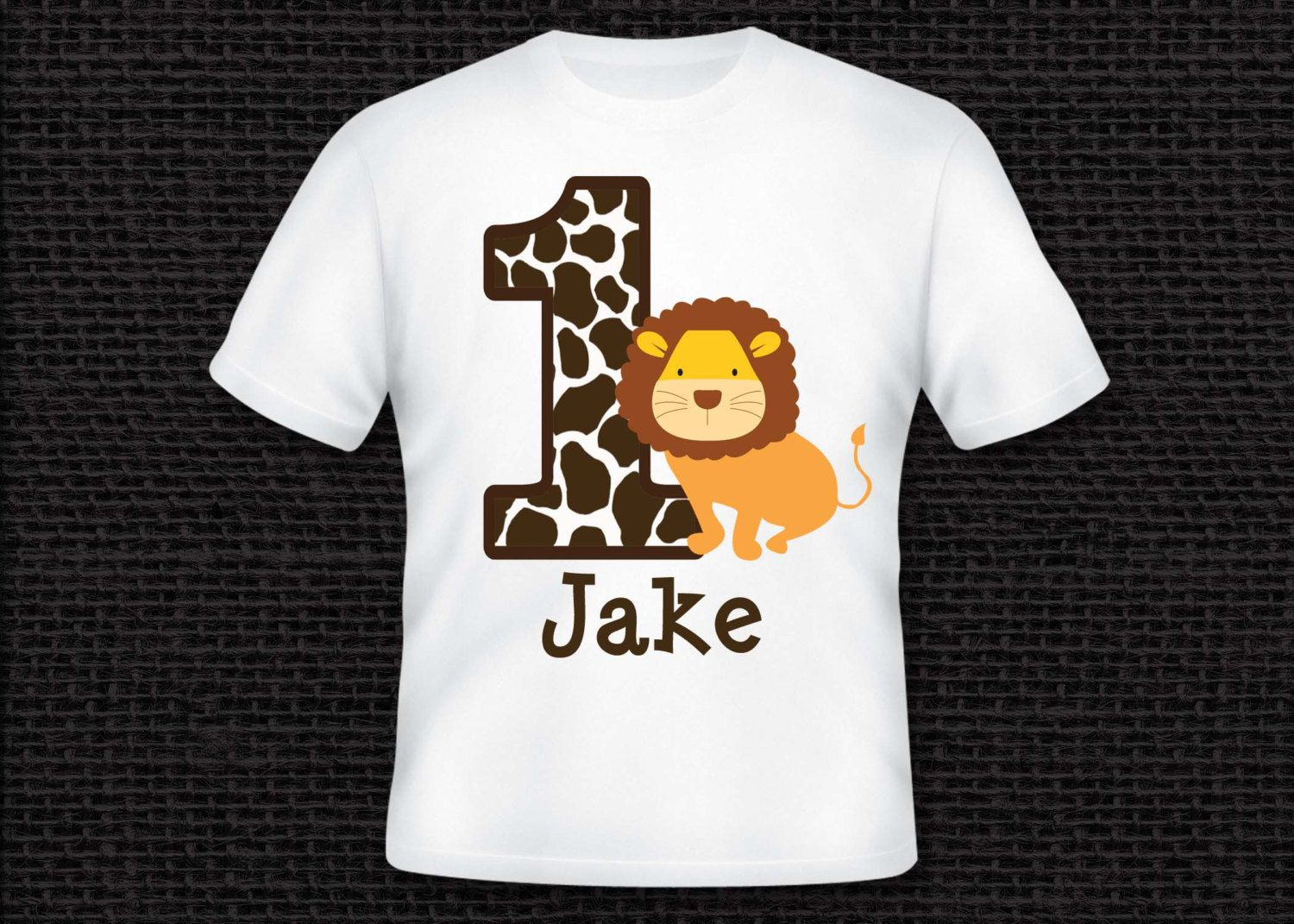 Personalized Lion Safari Birthday Party Number T Shirt Or Bodysuit ANY NUMBER AVAILABLE By OneWhimsyChick On Etsy