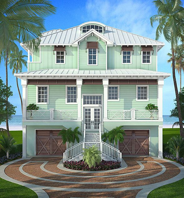Coastal Home Plans - Tobago House Plans Pinterest Coastal