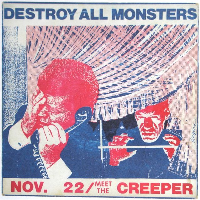 """from the """"Destroy All Monsters"""" collective  (Mike Kelley, Cary Loren, Niagara, Jim Shaw) 1973-1977 before, during and just after its brief existence."""