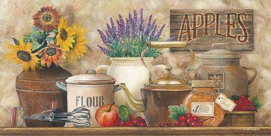 Antique Kitchen Framed Picture By Artist Ed Wargo
