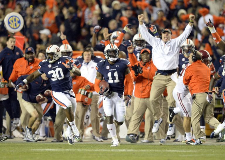 Ncaa Football Alabama At Auburn Auburn Tigers Football College