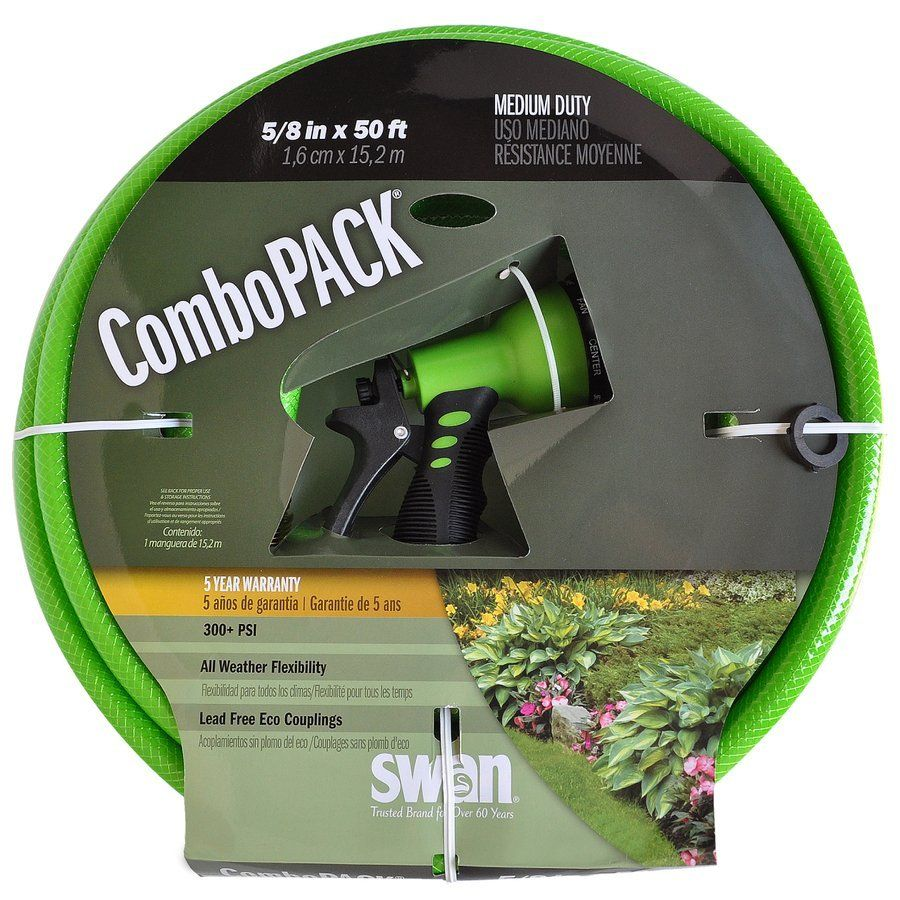 SWAN 5/8in x 50ft Medium Duty Garden Hose Garden hose