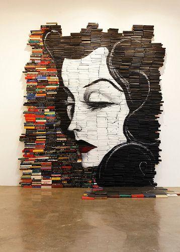 Mike Stilkey #art made from books.