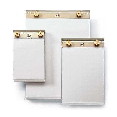 Aluminum And Brass Memo Pad Small Manufactum Memo Pad Brass Pad