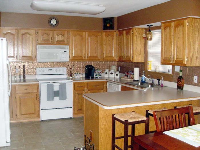 Glazing Golden Oak Kitchen Cabinets