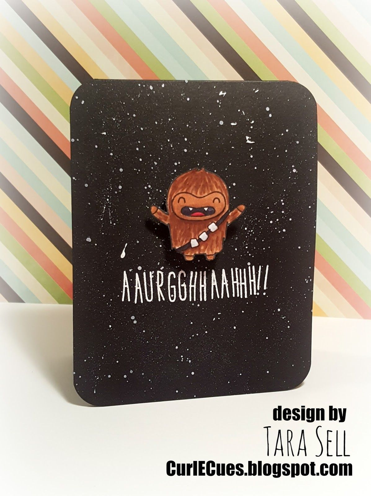 Curl e cues video star wars chewbacca action wobble card i am super excited about tonights card this was a special custom made card for my hubbys birthday now hubs is a huge star bookmarktalkfo Choice Image