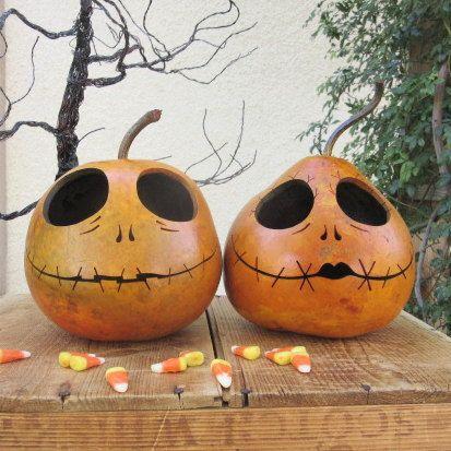 Halloween+Gourd+Jack+and+Sally+Skellington+by+pinchmeboutique - tim burton halloween decorations